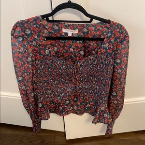 Intermix flora rouched top